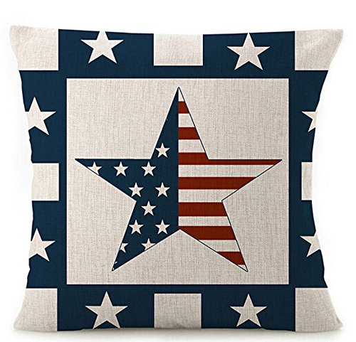 British American flag Cotton Linen Throw Pillow covers Case Cushion Cover Sofa Decorative Square 18 inch (8)