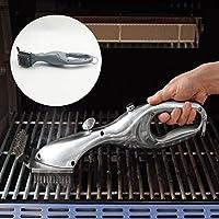 Grill Brush & BBQ Cleaning Scraper - Parrilla de barbacoa de acero inoxidable al 100% de largo con 15 pulgadas - El mejor cepillo de barbacoa para porcelana, propano, eléctrico, infrarrojo, acero inoxidable, gas, hierro y rejillas de parrilla Weber