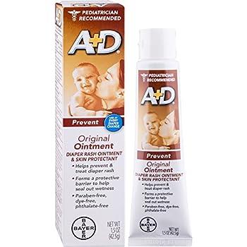 5d771ec1eab1d9 A+D Original Diaper Rash Ointment, Baby Skin Protectant With Lanolin and  Petrolatum, Seals Out Wetness, Helps Prevent Diaper Rash, 1.5 Ounce Tube