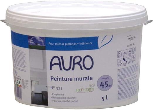Peinture Naturelle Murale Blanche Intérieur Auro N 321 5 Litres
