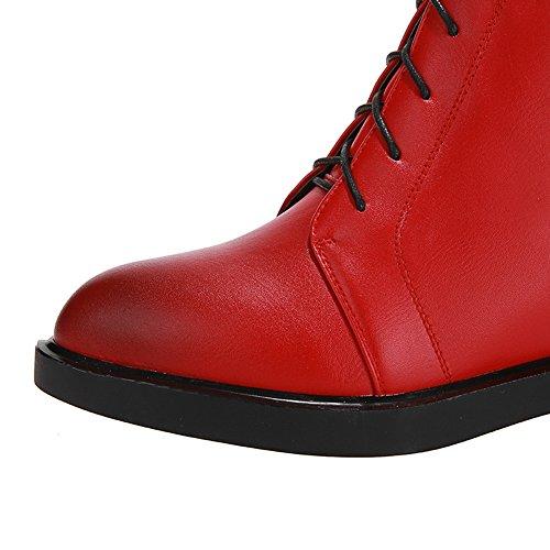 1TO9Mns02315 - Sandali con Zeppa Donna, Rosso (Red), 35