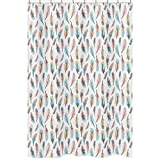 Sweet Jojo Designs Feather Collection Girls Kids Bathroom Fabric Bath Shower Curtain
