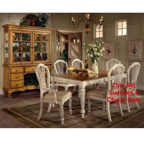 Wilshire 5 Piece Rectangle Dining With Side Chairs- Antique White