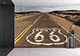 wall26 The historic route 66 road still survives in the southwest - Removable Wall Mural | Self-adhesive Large Wallpaper - 66x96 inches