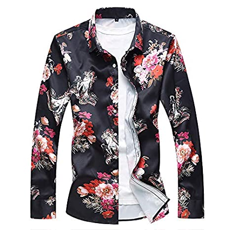 Mens Chinoiserie Shirt Floral