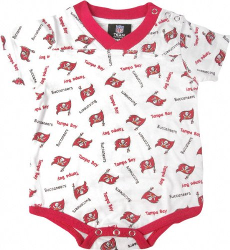 Tampa Bay Buccaneers NFL Reebok Infant / Baby Creeper / Coverall (Nfl Reebok Infants Creeper)