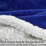 Sherpa Hood Wearable Blanket for Adult Women and