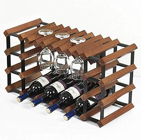 HJXSXHZ366 Estantería de Vino 10 Botellas de Vino Rack de Cocina Botella de Vidrio mostrador Estante 6 estantes Separados for Bar/Cocina, Blanco Estante de Vino pequeño (Color : Antiquecolor)
