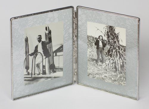 Amazon.com - Bedford Downing Floating Glass Picture Frame in Etched ...