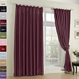 kess in house bedding - FirstHomer Pinch Pleat Solid Window Treatment Thermal Insulated Blackout Room Darkening Curtains / Drapes for Bedroom,50 Inch Wide By 84 Inch Long,Burgundy(One Panel)