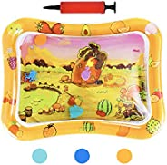 HABOM Upgraded Tummy Time Baby Water Mat Infants Slapped Toys Inflatable Play mat for 3 6 9 Months Toddlers Ne