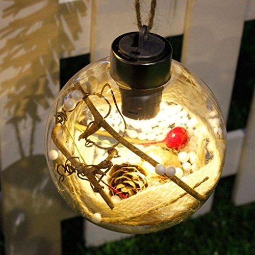 Highpot LED Festival Decor Light Merry Christmas Tree Bulb Light Ball Ornament Xmas Garden Decor (C) (C-5 Tree Christmas Lights)