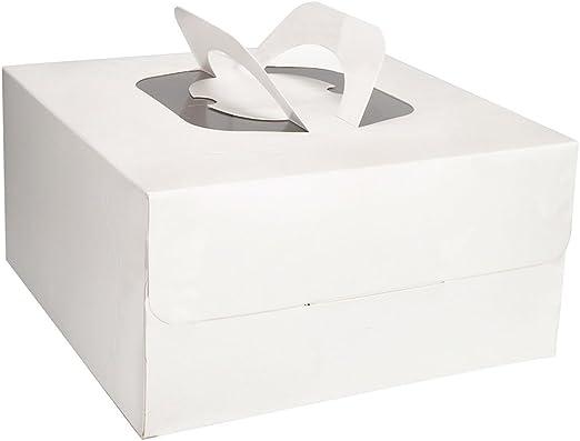 VIPITH - Caja cuadrada para tartas con tapa extraíble y base ...