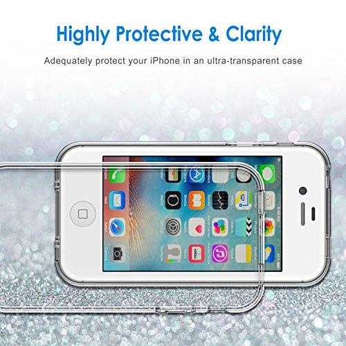 JETech iPhone 44S Carcasa Case Caja de absorción de Amortiguador Shock Auto y, antiarañazos de borrar Back para Apple iPhone 4/4S Funda (HD CLARO) monocolor