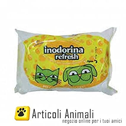 Inodorina - Toallitas para perros y gatos, aroma citronela, 40 unidades