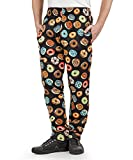Men's Donut Print Chef Pant (XS-3X) (Large)
