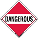 Labelmaster Z-PL1 Dangerous Hazmat Placard, Worded, Polycoated Tagboard (Pack of 25)