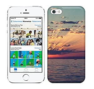 Best Power(Tm) HD Colorful Painted Watercolor Sunrise And Wide Sea Hard Phone Case For Iphone 5/5S