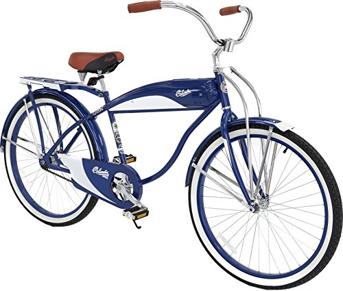 Style Beach Cruiser Bike Bicycle (Columbia Bicycles 1952 Men's Retro Tank Beach Cruiser Bicycle, 26