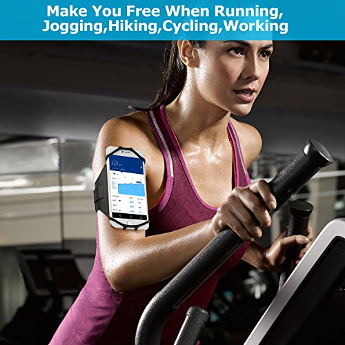 Simptech Running Phone Armband for iPhone X/8/7/6/6S Plus, Galaxy S8/S7/S7 Edge,180°Rotatable Design with Key Holder Ideal for Workout Jogging Hiking Biking by Simptech (Image #7)