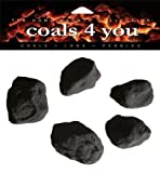 COALS 4 YOU 20 Gas Fire Ceramic Large Cast Coals Replacement Replacements/Bio Fuels/Ceramic/Boxed In Coals 4 U Branded Packing, Black