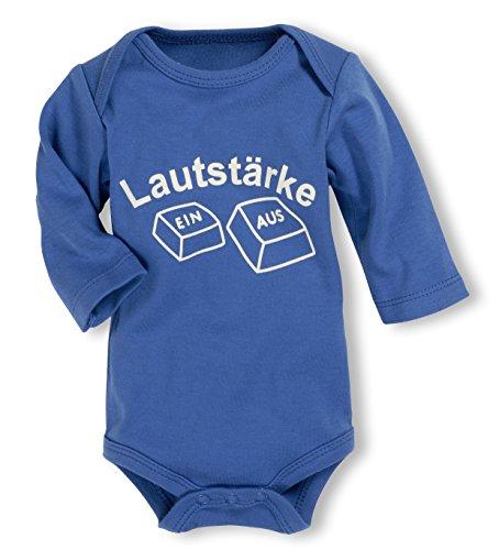 Schnizler Unisex Baby Body Langarm, Lautstärke, Oeko - Tex Standard 100, Gr. 62 (Herstellergröße: 62/68), Blau (blau 7)