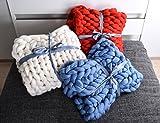 Chunky knit blanket Chunky blanket Merino wool blanket Giant throw Chunky Merino wool blanket Plaid Home decor Christmas gift Christmas present Interior design