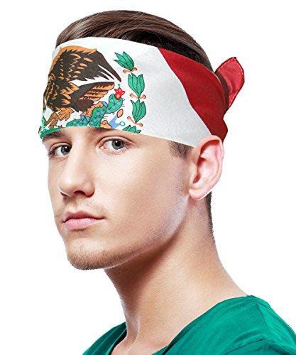 Mexican Flag Bandana Mexican Bandana Mexico Bandana Mexico Flag Bandana Eagle Bandana