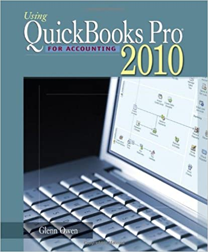 Using Quickbooks Pro 2010 for Accounting with CD-ROM