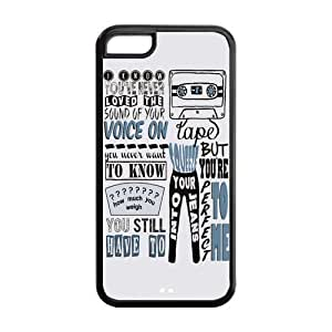 Personalized Snap-on TPU Rubber Coated Case Cover for iPhone 5C [1D One Direction]