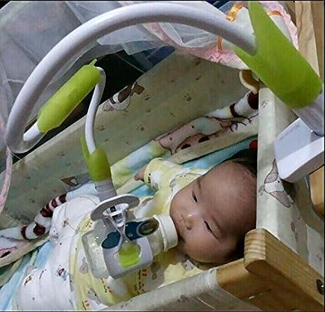 Hands-free Adjustable Bottle Clip Holder on Baby Strollers Bed for Dad Mumy L/&6