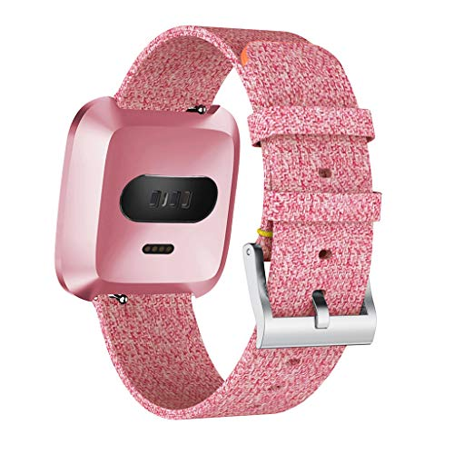 Clearance! For Fitbit Versa Lite, Luxury Woven Fabric Bracelet Watchband for Women Men Adjustable Replacement Wrist Straps -