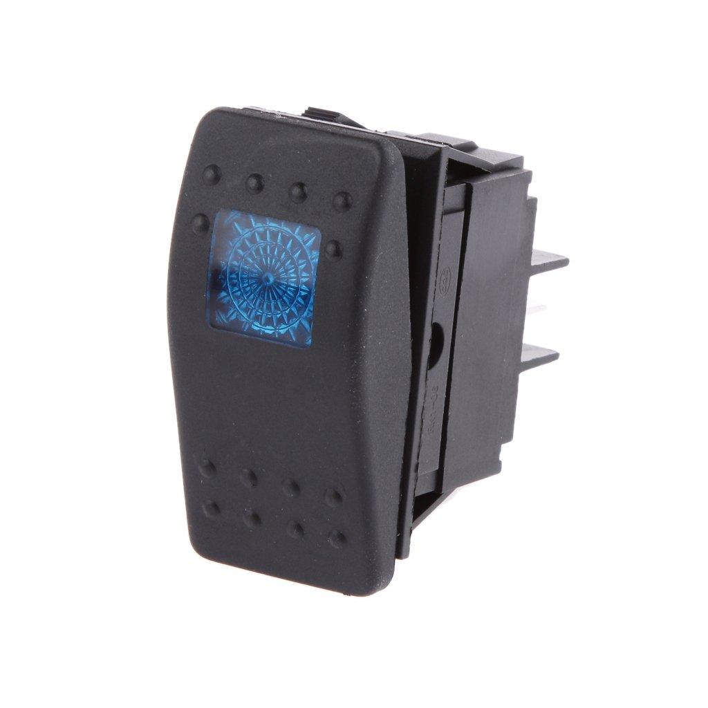 LED Interrupteur à Bascule SPST 12v 20A Sur Voiture Hors Bateau de Camion - Bleue Generic