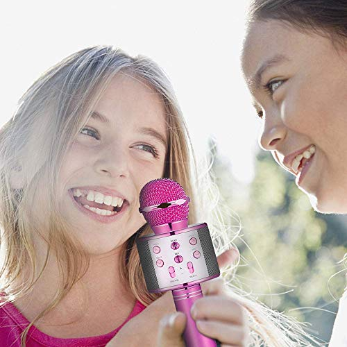 HahaGift Gifts for 3-14 Year Old Girls, Microphone Idea for Kids Toy Microphone for Kids Microphone Fun Toys for 3-14 Year Old Girls Boys Purple by HahaGift (Image #6)
