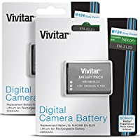 Vivitar EN-EL23 Battery for Nikon Coolpix P900, P600, P610, B700 and S810c (2 Pack 2550mAh Rechargeable Lithium-Ion Batteries, Fully Decoded 100% Compatible with Original)