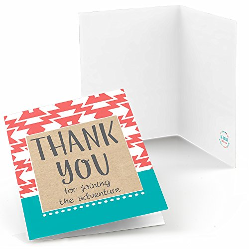 (Big Dot of Happiness Be Brave Little One - Boho Tribal Baby Shower or Birthday Party Thank You Cards (8 Count))