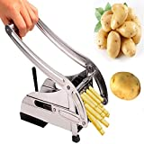 Jannat Stainless Steel Home French Fries Potato Chips Strip Cutting Cutter Machine Maker Slicer Chopper Dicer