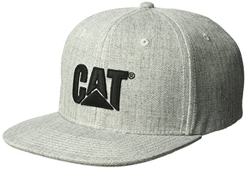 Caterpillar Men's Sheridan Flat Bill Cap, Heather Grey, One Size