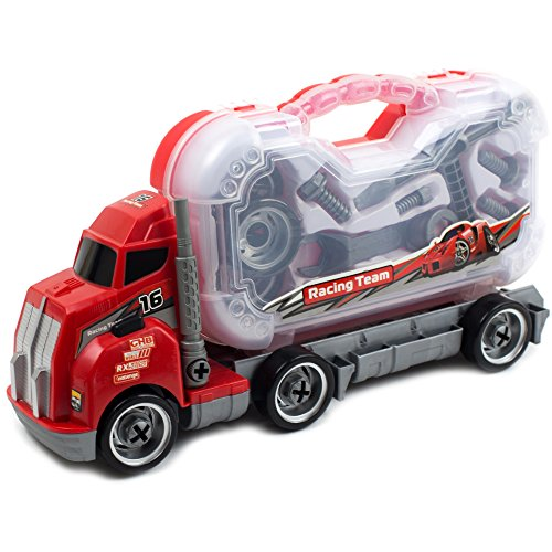 Take Apart Tool Master Truck Carrier with Tools to Take Apart, Construct & Build. Educational Truck for Your Kids.