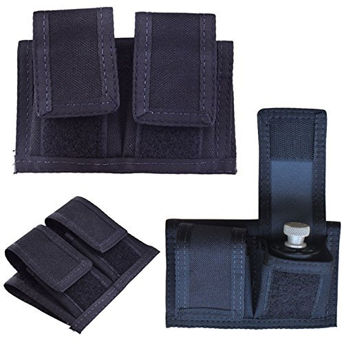 Double Speedloader Belt Pouch Universal Fit 22 Mag thru 44 Mag (Black) (Mag Universal Double Case)