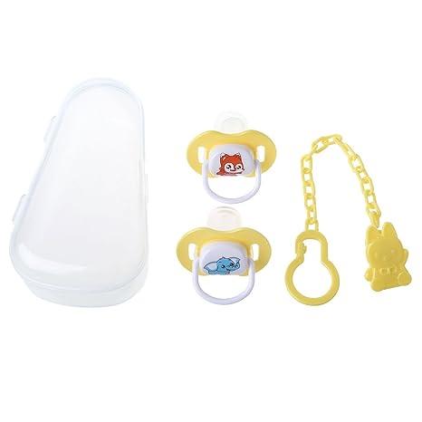 A0127 3 piezas/juego de chupete de silicona para bebé ...