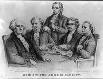 Photo: President George Washington,his Cabinet,Henry Knox,Alexander  Hamilton,Jefferson
