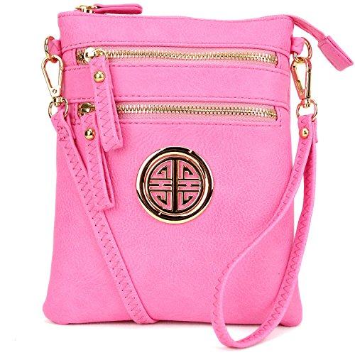 à Petit bandoulière à bandoulière Cuir léger en Multi Small Sac sac à Sac bandoulière pink Poche main Simili Lady Sac vEqFA