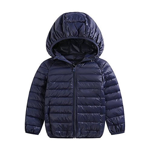 Jacket Kids Packable Girls Hoodie Size 2 Pink Lightweight Baby Navy Coats Winter Baby 3T Boys Down Fairy 01SYW