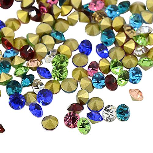 ARRICRAFT 50 Grosses 14400pcs Diamond Shape Grade A Glass Pointed Back Chaton Rhinestones Back Plated for DIY Jewelry