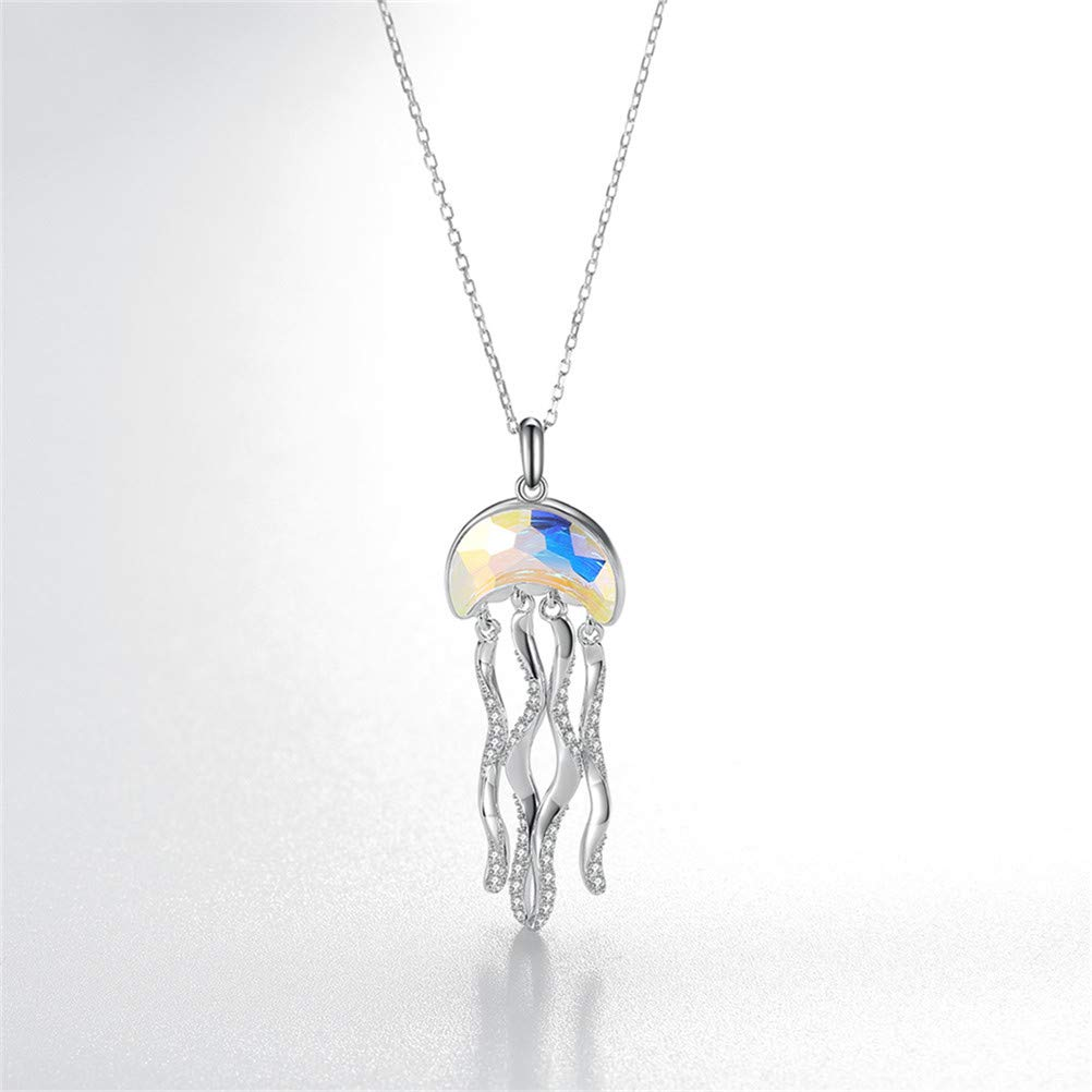CXILIN Necklace Mothers Day Creative Jellyfish Pendant Fashion Simple Ms.