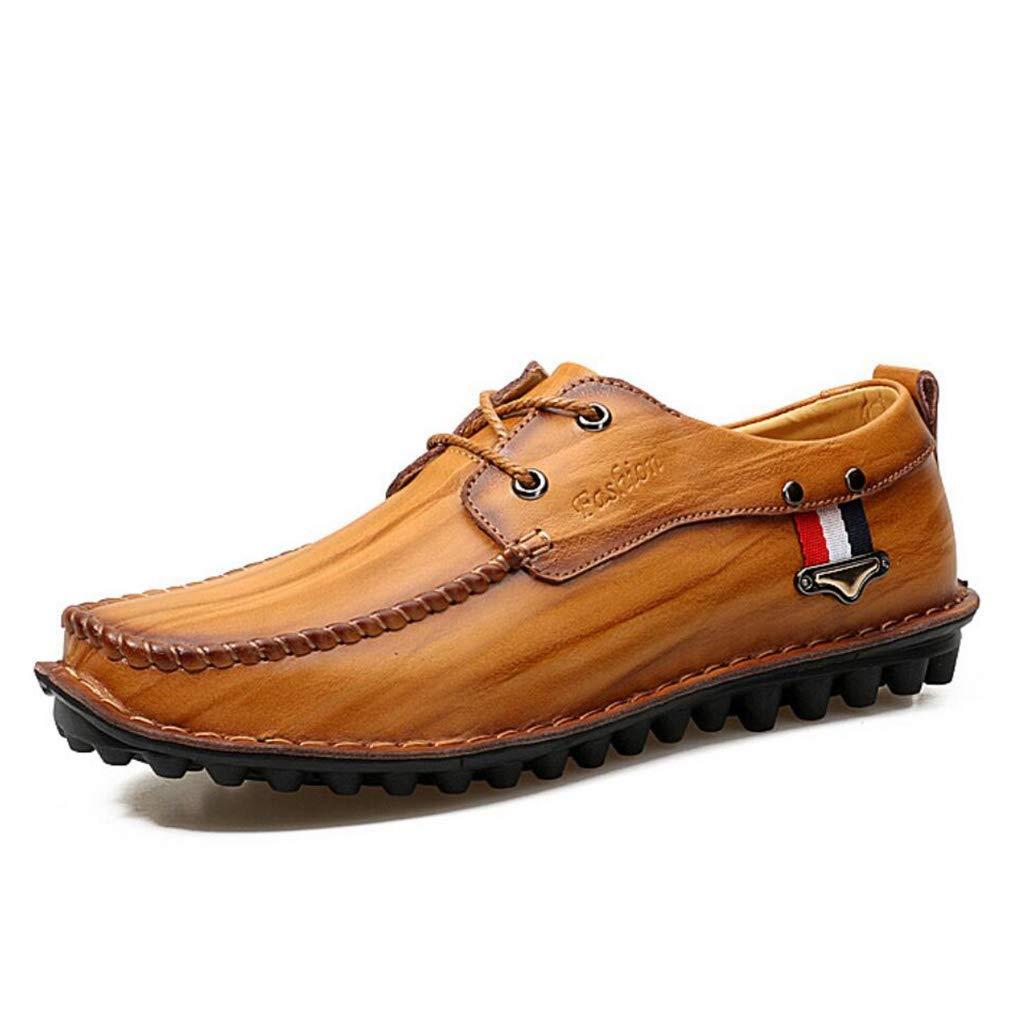 Herren Freizeitschuhe, Mode Lederschuhe, Comfort Loafers & Slip-Ons Wanderschuhe, Frühling Breathable Herbst Breathable Frühling Driving Schuhe, Koreanische Version Flut Schuhe (Farbe : B, Größe : 42) 9a7033
