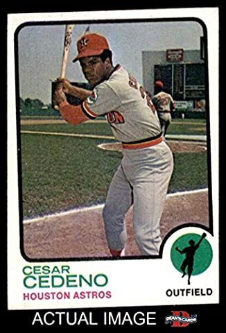 1973 Topps # 290 Cesar Cedeno Houston Astros (Baseball Card) Dean's Cards 4 - VG/EX Astros - 1973 Baseball