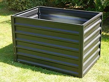 Eastwest Pflanzkubel Hochbeet Greenbox Aus Metall In Schwarz