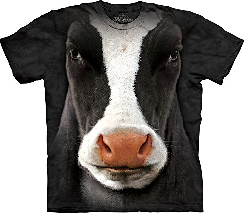 Cow Face (The Mountain Men's Cow Face T-Shirt, Black, X-Large)